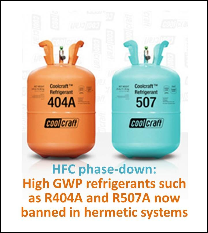 HFC refrigerant phase down